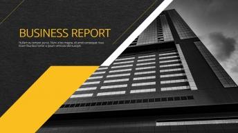黄色高端商务总结汇报通用模板