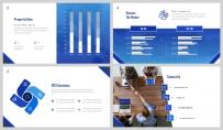 【深蓝极简】大气极简房产金融商业计划书示例7