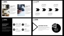 【耀你好看】黑白质感经典商业计划书示例7