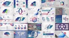 欧美立体 商务 创意 潮流 色彩 模板 时尚 示例3