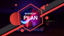 【优雅商务系列9】红黑高饱和度商务回报总结模板