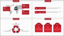 【商务大杀器】红黑简约公司企业年终工作通用PPT示例5