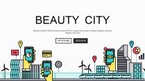 【智慧城市】极简线条创意科技互联网工作通用PPT