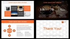 简洁大气明快醒目橙色商务通用PPT模板示例7
