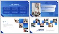 【深蓝极简】大气极简房产金融商业计划书示例5