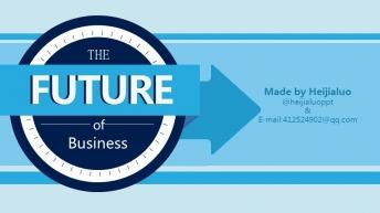 【理性蓝】创意商务精致大气模板 强货来了!示例2