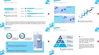 【时尚简约】清新大气三角形元素多用商务PPT模板示例5