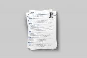 【一页纸简历】HR一眼相中PPT个人简历-180示例3