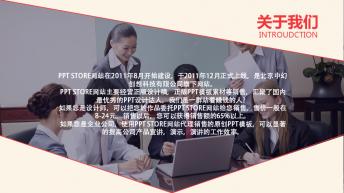 [温柔的配色]大气简约商务报告PPT示例4