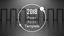 【动态】2018欧美风黑色商务创意通用ppt模板
