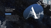 【创意】手绘水彩星空日食线描花边PPT示例4