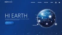 【商务中国】蓝色科技互联网工作总结汇报PPT
