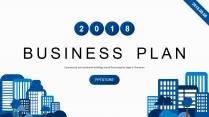 【双配色】智慧科技绿色商务城市工作汇报PPT