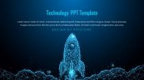大气火箭科技风商务汇报PPT模板