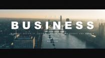 【电影质感】简洁大气年终商务计划报告模版4