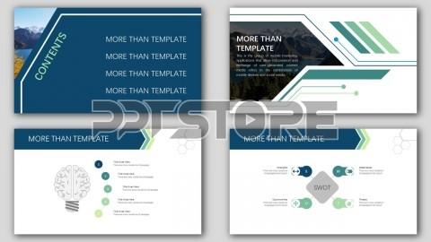 欧美杂志排版简洁高端实用ppt模板42(商务)