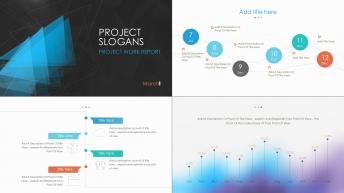 簡約可視化商務策劃、工作匯報模板