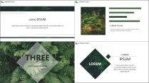 【E】绿色简约深林气息商务模板示例5