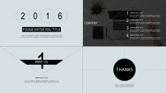 【002 优雅至上】简洁单色易修改线条逻辑式 模版