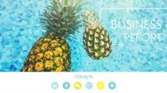 【004】清凉一夏简约蓝黄水果色商务通用ppt模板