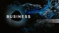 【蓝色幻影】高端简洁时尚几何商务报告模板
