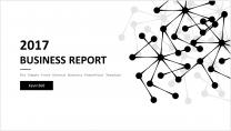 【点线艺术】清新简约商务通用报告模板-2|黑