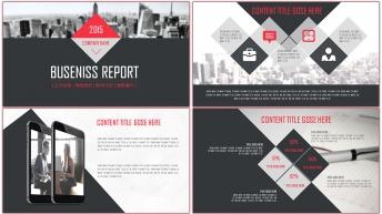 创意图文可视化商务总结报告PPT模板