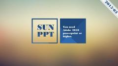 【动画PPT】经典蓝多边形图文混排模