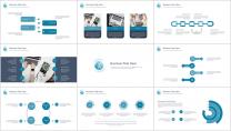 【几何艺术】清新简约商务通用报告模板-05|蓝色示例4