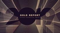 金色年终总结商务报告工作计划项目策划模板系列十 六