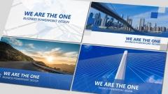 蓝色商务报告PPT模板四套合集【二】示例2