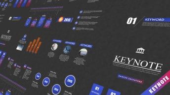 【動態keynote】精致高端商務匯報總結模板03