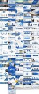 蓝色商务报告PPT模板合集【5套共100页】示例8