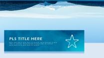高颜值海洋蓝简约欧美风商务项目PPT模板示例6