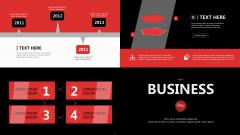 时尚大气_红黑视觉震撼力量-实用商务汇报模板
