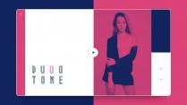 【双色艺术】红蓝高级复古质感&创意时尚品牌策划方案