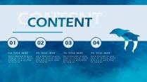 高颜值海洋蓝简约欧美风商务项目PPT模板示例3