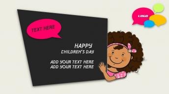 可爱六一儿童节模板示例7