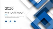 【创意几何】蓝色现代设计总结报告工作计划商务策划模