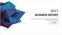 【几何艺术】清新简约商务通用报告模板-12