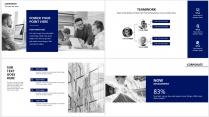 【分条析理A】蓝色科技极简大气商务工作总结年终汇报示例5