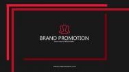 红黑简约杂志风品牌推介PPT模板