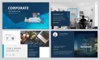 【简约北欧】蓝色轻奢北欧风情产品商务模板3.0