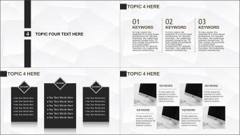 【Keynote】黑白配示例7