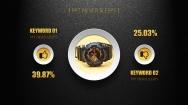 【微立体14】高贵玫瑰金&大气磨砂黑商务展示模板示例7