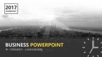 【黄色20】大气商务工作报告PPT模板【163】