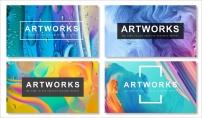 【抽象藝術】現代商務工作計劃季度總結通用模板(含四