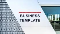(001)简约高级红色大气商务企业介绍PPT模板