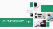 绿色科技/家居建筑杂志风精致图文混排PPT模板