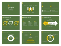 扁平化简约商务报告模板